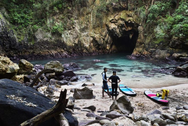 "What""SUP"" in Whangamata: Paddleboarding to Donut Island"