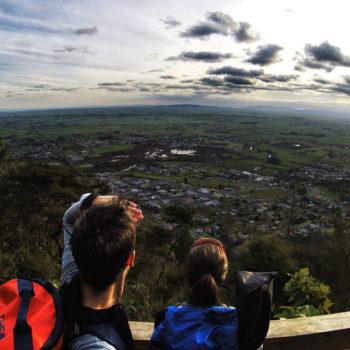 Climbing Mt Te Aroha