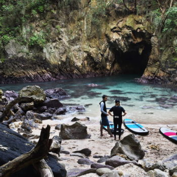 """What""""SUP"""" in Whangamata: Paddleboarding to Donut Island"""