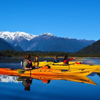 Kayaking Franz Josef's Mirror Lake