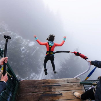 Bungy Jumping and Luging in the Clouds