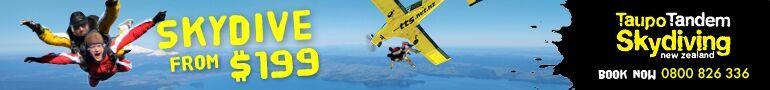 Taupo Tandem Skydive